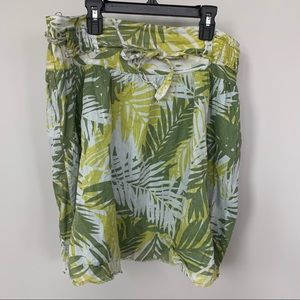 Billabong 100% Cotton Palm Leaf Skirt Size 11